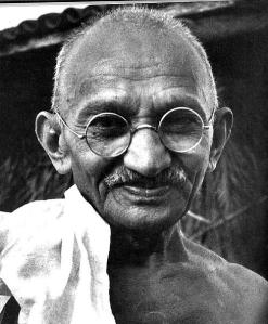 Gandhi smiles