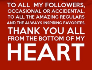 To all my followers